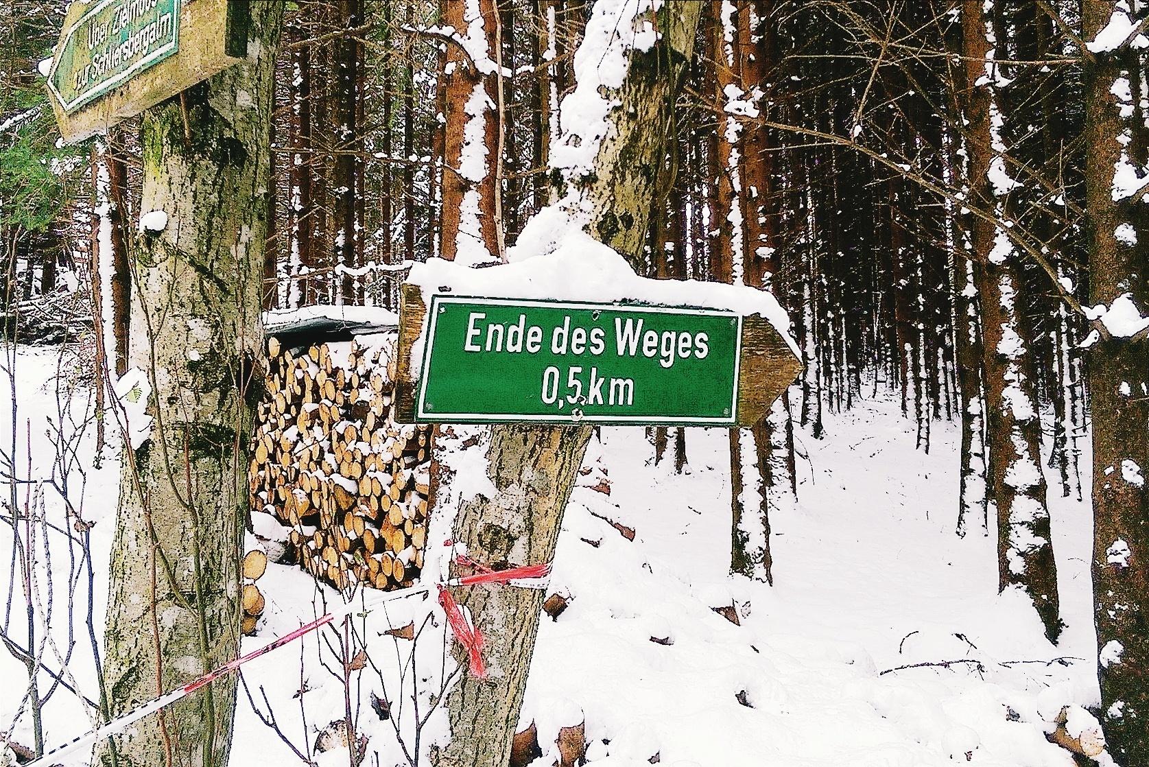Ende des Weges Schliersee